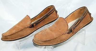 UGG 1005715 Brysen Shearling Lined Leather Slippers Brown Men's 12 M