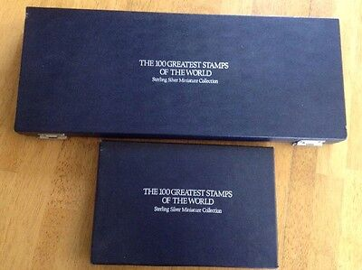 Franklin Mint Silver 100 Greatest Stamps of the World Complete Vintage 1981