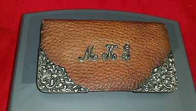 Antique Victorian Leather and Sterling Silver Wallet
