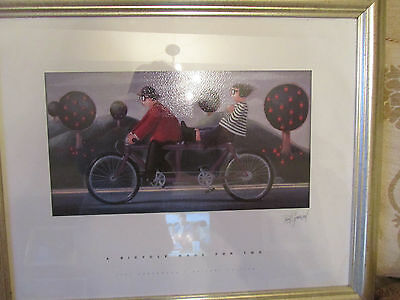 A Bicycle Made for Two by Paul Greenwood open edition framed and glazed print