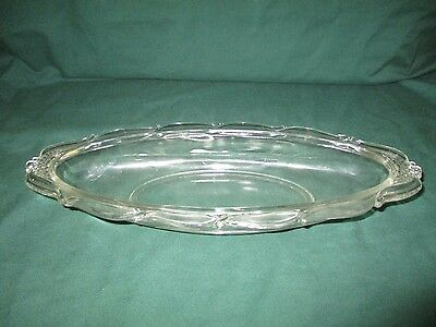 """Heisey Clear Glass Relish Tray 12"""""""