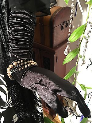 Long Black Theatre Gloves