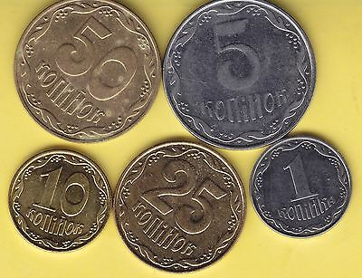 Ukraine  small  lot of 5 coins ........................ 104