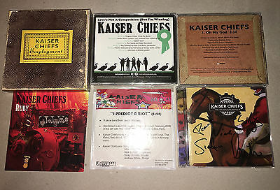 Kaiser Chiefs Rare Promo CD Lot + Autographed Booklet Ricky Wilson The Voice UK