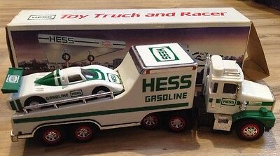 1988 Hess Toy Truck and Racer Vintage