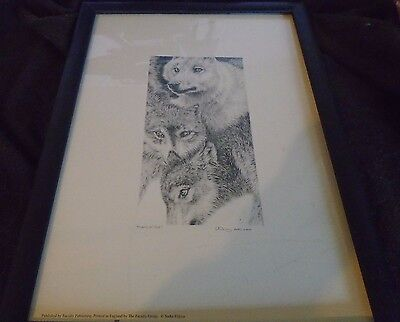Pack of Wolves Pencil Drawing A3 Print Signed by Artist Sarah Filkins