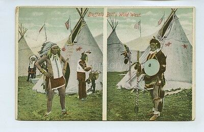 Buffalo Bill Wild West Performers - Stamped In Belgium - Postcard