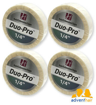 """WALKER Duo-Pro Hair Extensions Tape Roll 1/4"""" x 6 yards wig hairpiece - 4 rolls"""