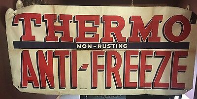 Vintage  Sign,vintage Thermo Anti Freeze Banner Sign Vintage Antifreeze Sign