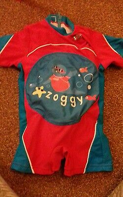 zoggs inflatable all in swimsuit swimwear 1 - 2 years