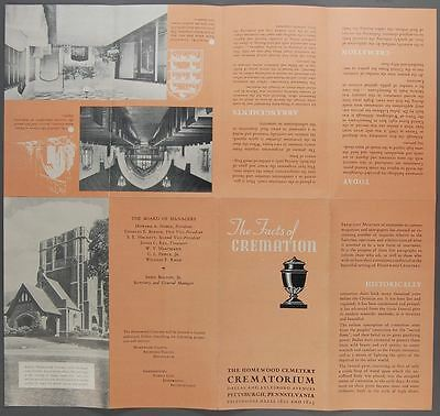 c1930 THE FACTS OF CREMATION Brochure Homewood Cemetery Pittsburgh Pennsylvania
