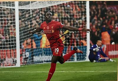Sadio Mane Liverpool Fc Reds Hand Signed 12X8 Photo