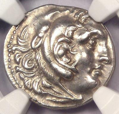 Alexander the Great III AR Drachm Coin 336 BC - Certified NGC AU - Rare Coin!