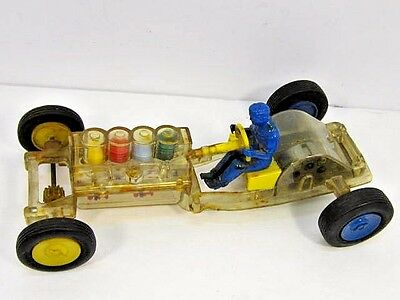 Vintage 1950's Nosco Plastics Drag Race Roadster Car With Driver Toy For Parts