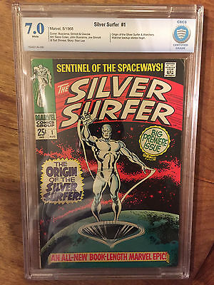 Silver Surfer   #1  Cbcs  7.0  White Pages