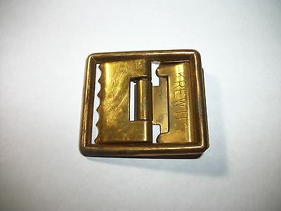 US WWII USMC Krew U.S. Brass Belt Buckle