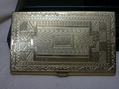 Card Holder Ornate Metal Business Gift Card Monogrammed ANC For Purse