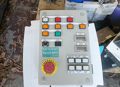 MACHINE CONTROL PANEL, 200x300 Steel enclosure Buttons Counters E-Stop and more