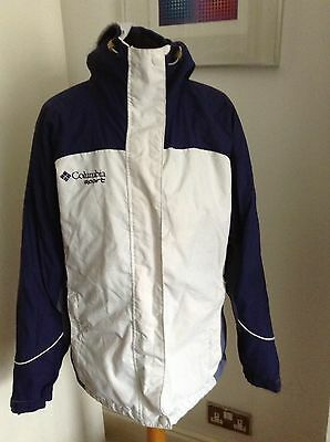 Women's Columbia Ski / Snowboard Jacket Size L White & Blue
