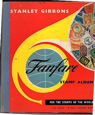 SG Fanfare album, contains only a few common stamps