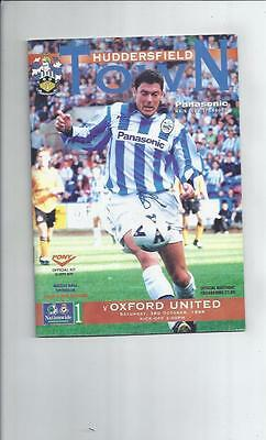 Huddersfield Town v Oxford United Football Programme 1998/99