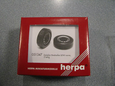 Herpa 051347 - HO Scale Special Wide Tires for Truck Front Axle, in Two Parts