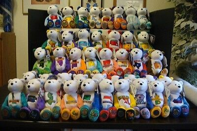 "42 Limited Treasure State Quarter 9"" Plush Bears With Quarter's & Original Tags"