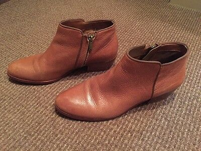 Sam Edelman 'petty' Saddle Leather Ankle Booties Boots Brown Size 9.5