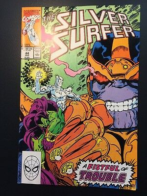 SILVER SURFER #44 1st app Infinity Gauntlet, Tiger Insert Intact! Huge Key Issue