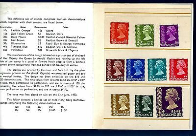#701 Hong Kong Scott # 275-284 Partial Set Mint Never Hinged in booklet 1970s
