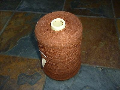4ply CONE- RUST BROWN MACHINE/HAND KNITTING/CRAFTING WOOL/YARN approx 645g/22ozs