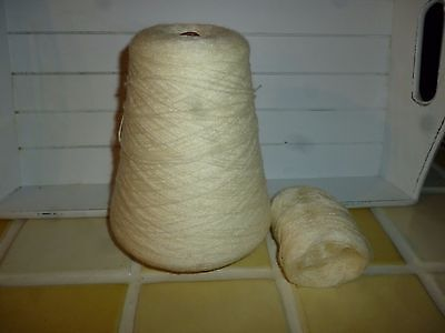 4ply CONE OF PEARLY WHITE MACHINE / HAND KNITTING/CRAFTING WOOL/YARN 290g/ 10ozs