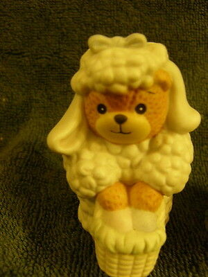 Enesco Lucy & Me Bear  LAMB WITH EASTER EGG BASKET