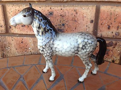 Very Rare Beswick Pony Head Up #1197 In RHG Gloss Restored Horse Foal