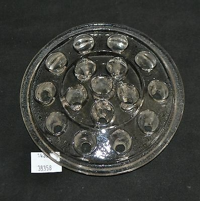 ThriftCHI ~ Clear Glass 16 Hole Flower Frog
