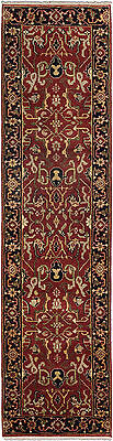 """Hand-knotted Carpet 2'7"""" x 10'0"""" Traditional  Wool Runner Rug"""