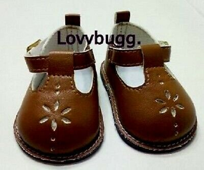 "Brown T Strap Mary Janes for American Girl 18"" Doll Shoes From Trusted Lovvbugg!"