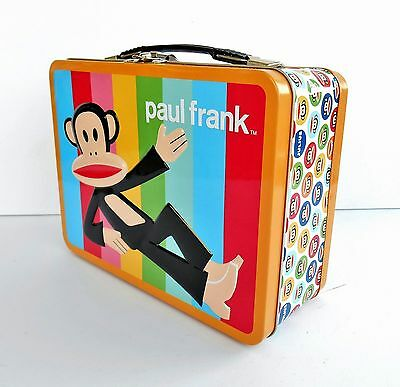 New PAUL FRANK Large Tin Tote Lunch Box With Julius The Monkey
