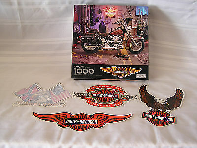 harley davidson 1000 piece puzzle and vintage stickers