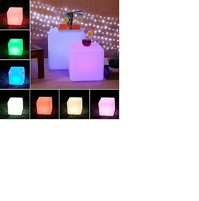 Cube Light 40Cm Outdoor Pool Garden Light Chair 15 Changing Colour