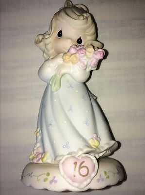 Precious Moments - Growing In Grace Age 16 136263 Blonde Porcelain Figurine