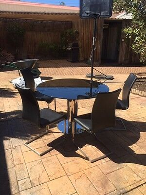 Glass Dining Table with 4 seats