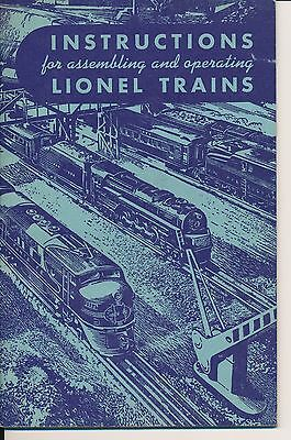 Instructions for Assembling And Operating Lionel Trains 1949
