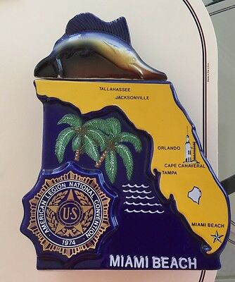 Ezra Brooks Liquor Bottle. 1974 American Legion Mimi Florida