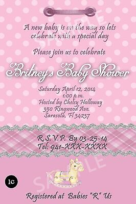 Baby Shower Invitation Cards - Personalized - Thank You Cards Available
