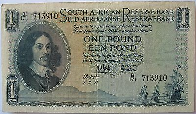 1954 South Africa 1 Pound (EEN POND) Banknote