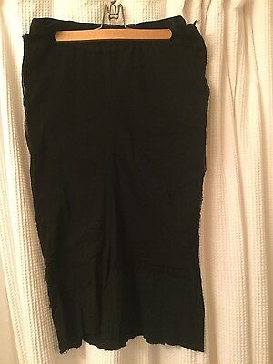 Rundholz Dip cotton and mesh fitted skirt NWOT size M black