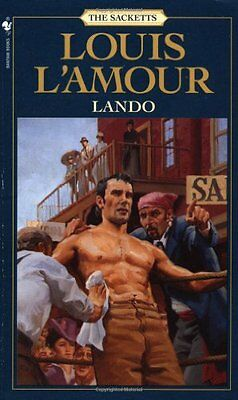 Lando (Sacketts), L'Amour, Louis Paperback Book The Cheap Fast Free Post