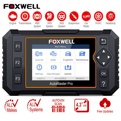 Foxwell Nt624 All Systems Scanner Abs Airbag Srs Diagnostic Scan Tool
