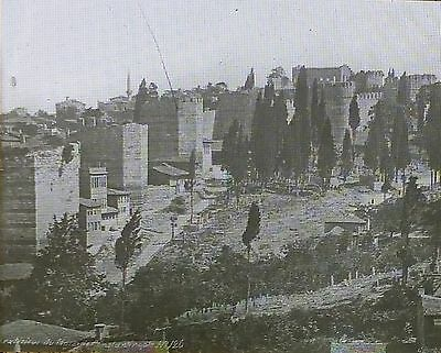 Constantinople Walls (Now Istanbul, Turkey), Magic Lantern Glass Slide